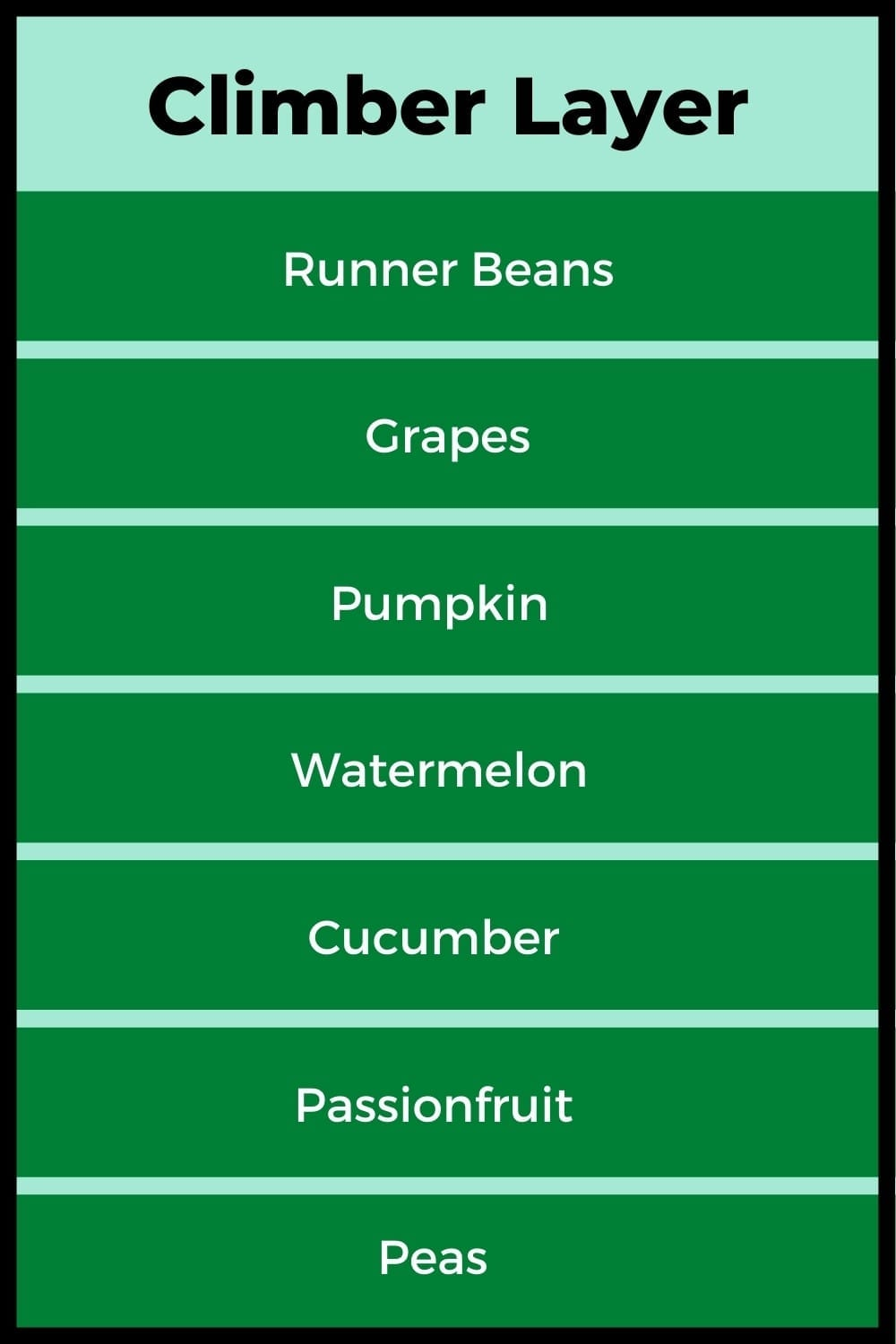 Plants suitable for the Climber Layer