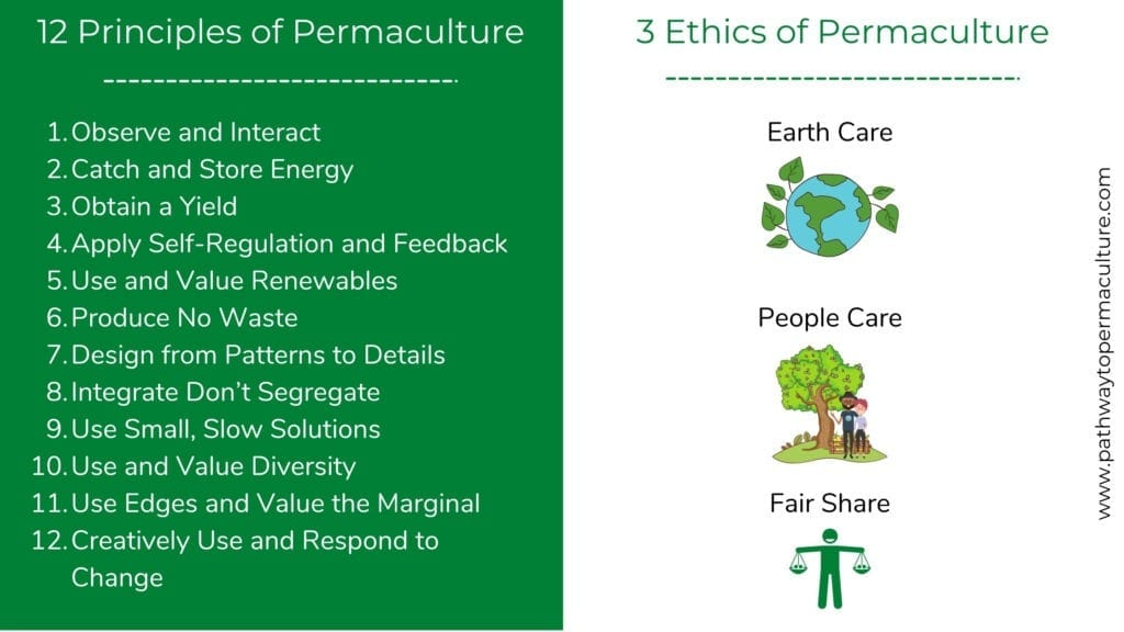 Infographic of the Principles and Ethics of Permaculture
